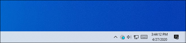 Windows 10's taskbar clock showing seconds