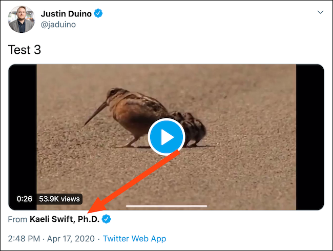 You should now have a tweet with an embedded Twitter video