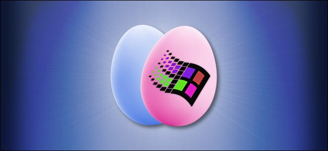 The Windows logo on an Easter egg.