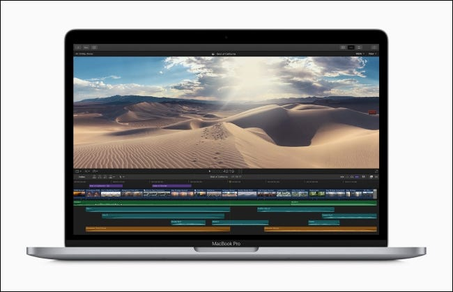 Edición de video de MacBook Pro de 13 pulgadas