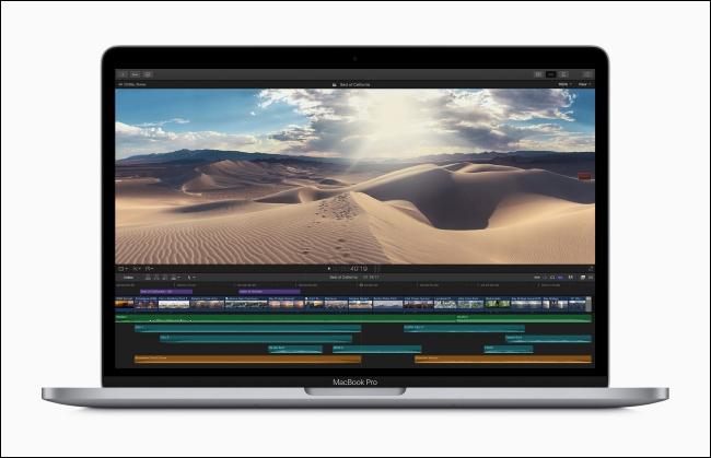 13 inch MacBook Pro editing video