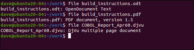 file build_instructions.odt in a terminal window.