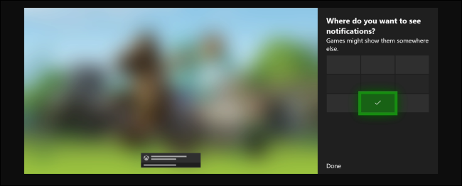 Xbox One Default Notification Position