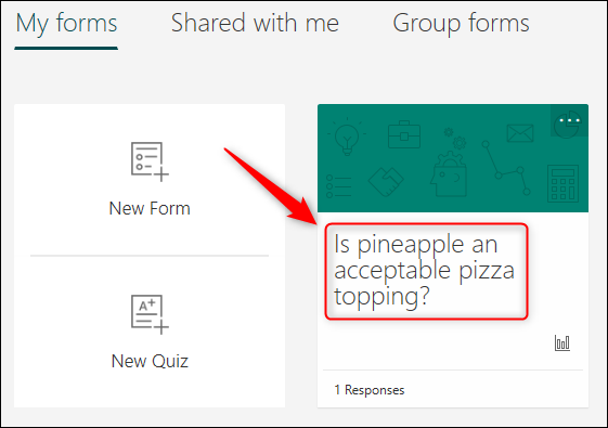 The poll displayed in Microsoft Forms.