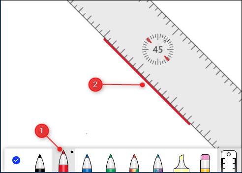 เส้นที่วาดโดยใช้ไม้บรรทัด