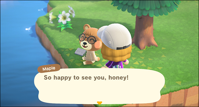 "Maple in ""Animal Crossing: New Horizons."""