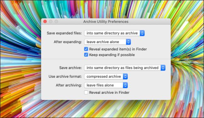 Archive Utility Preferences