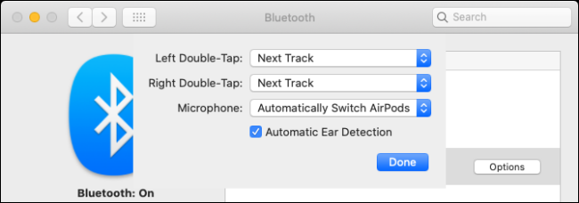 Change AirPods settings on Mac