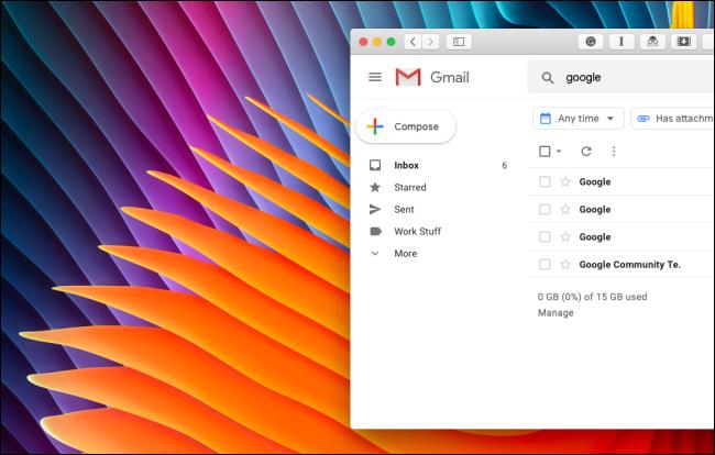 Se limpió la barra lateral de Gmail sin Google Hangouts o la sección Google Meet