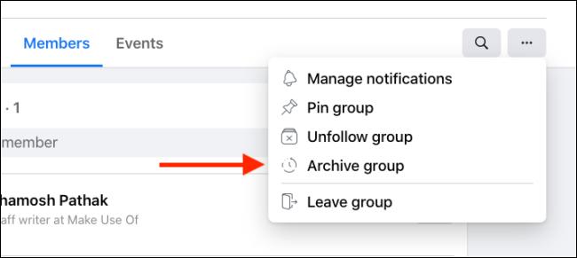 Haga clic en Grupo de archivo