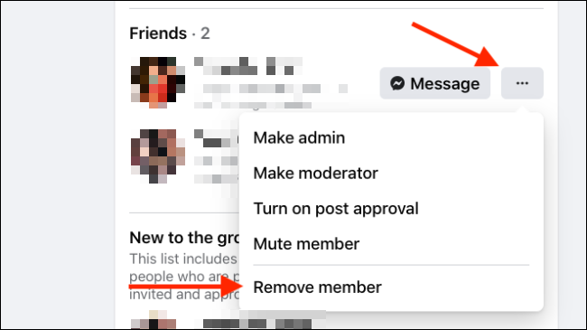 Click Remove Member from Member menu