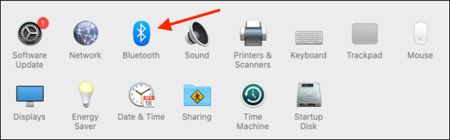 Click on Bluetooth from System Preferences