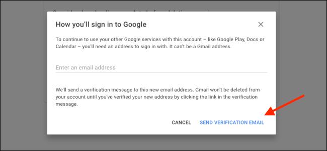"Click ""Send Verification Email."""