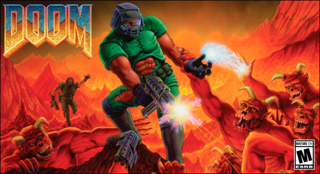 """The """"Doom"""" video game cover."""
