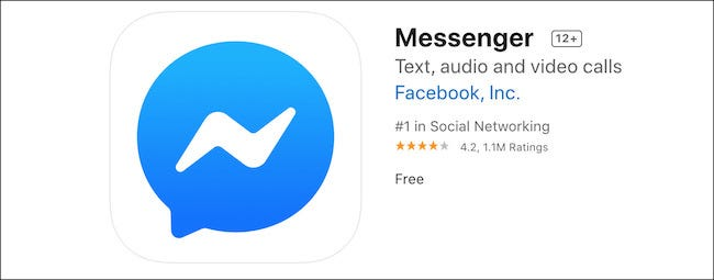 Facebook Messenger App in the Apple App Store