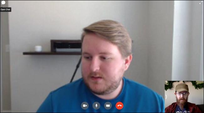 Facebook Messenger Desktop Video Chat Interface