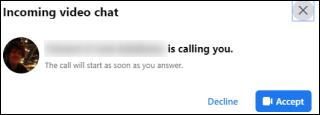 Facebook Messenger Receive Video Call