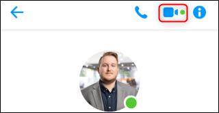 Facebook Messenger Video Chat Button