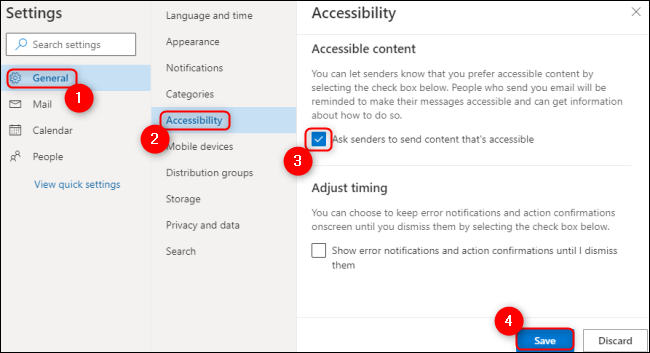 Microsoft Outlook Provide Accessible Content
