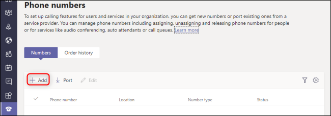 Microsoft Teams Admin Center Add Phone Number