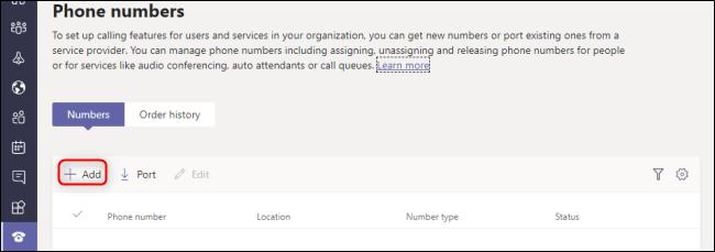 Microsoft Teams Admin Center Add Phone Number