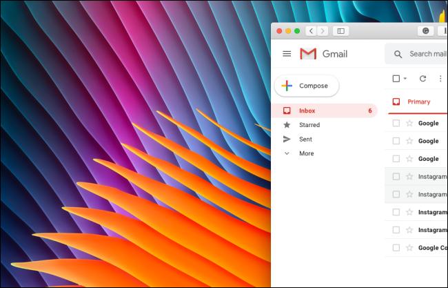No hay secciones de Google Meet o Hangouts Chat en la barra lateral de Gmail