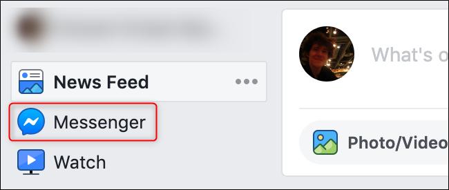 Old FB Interface Messenger