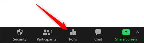 Polls option in Zoom meeting