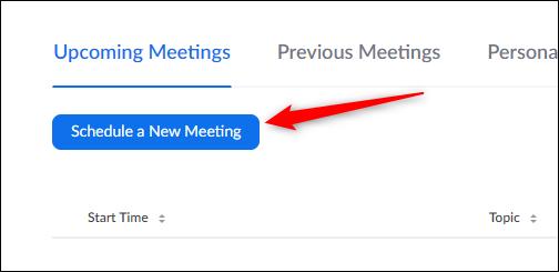 ปุ่มกำหนดเวลาการประชุมใหม่