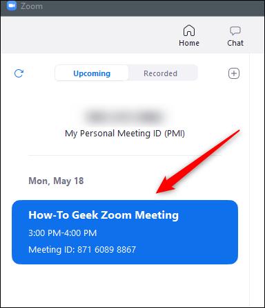 Schedule meeting in meetings tab