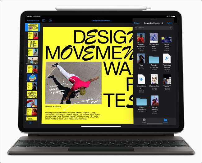 iPadOS 13 running on an iPad Pro.