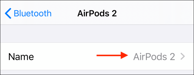 Select your AirPods name
