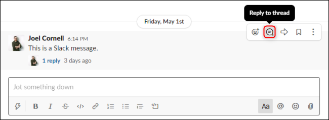 Slack Reply To Thread