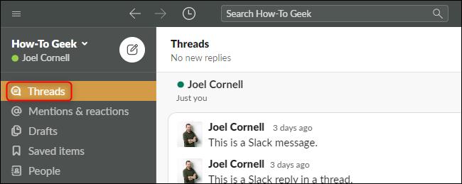 Slack Threads Button