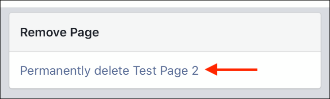 Tap Permanently Delete Page