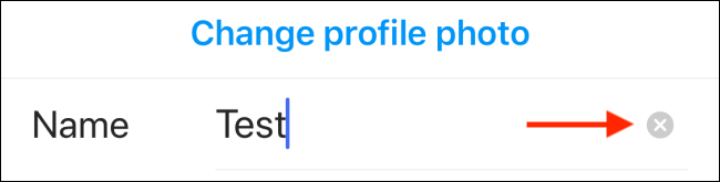 Tap the Delete icon to remove your current Instagram display name.