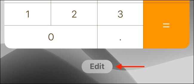 Tap on Edit button in widgets screen