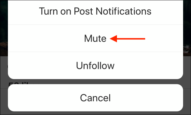 Tap on Mute button from menu