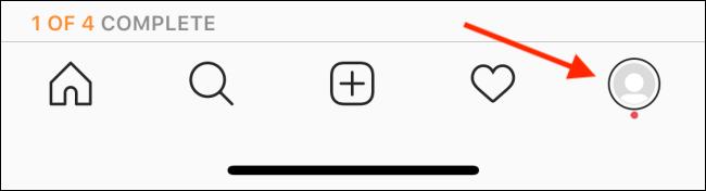 Tap your Instagram Profile icon.