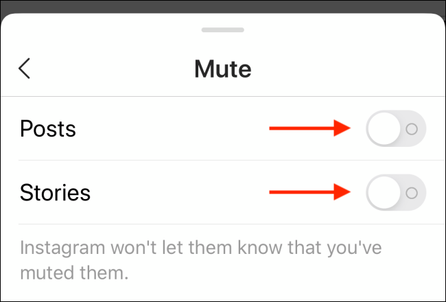Tap on toggles to unmute