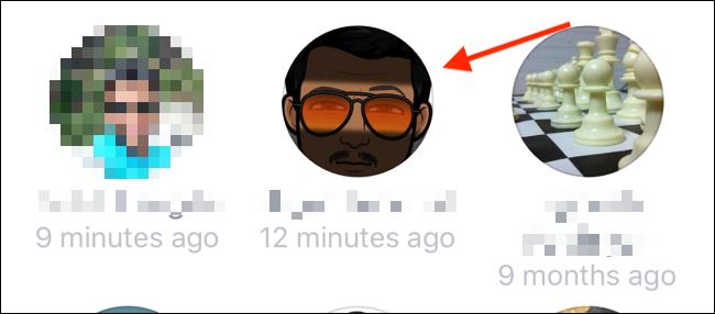 Tap to follow an unfollowed Facebook user