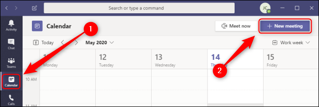 Teams Calendar New Meeting