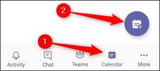 Reunión de programación móvil de Teams