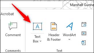 """Click """"Text Box."""""""