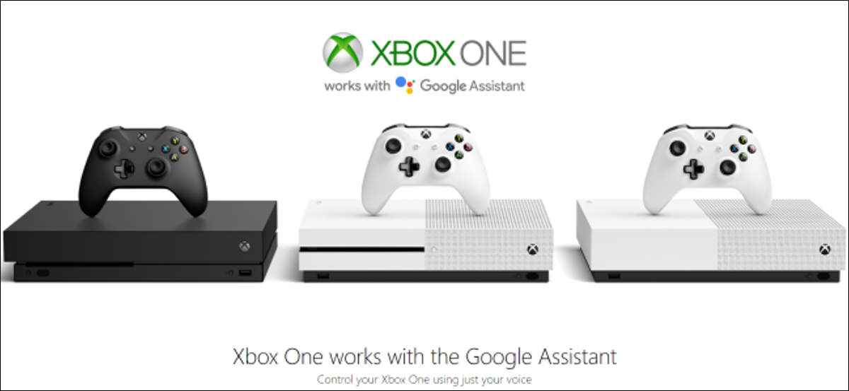 An Xbox One and Google Assistant