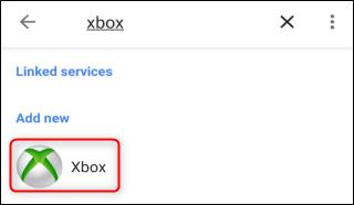"Select ""Xbox."""