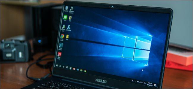 An Asus laptop PC running Windows 10.