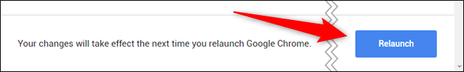 "Click the blue ""Relaunch"" button"