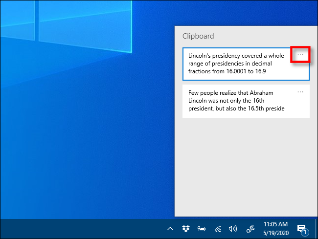 Click the ellipses ( . . . ) next to the item you want to pin on Windows 10.