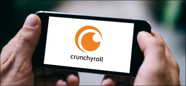 Crunchyroll logo on a smartphone